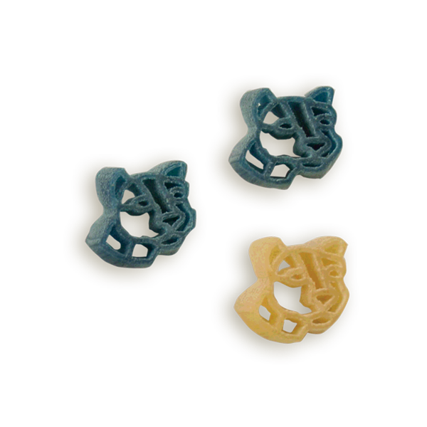 Penn State Nittany Lion Head Pasta Shapes. Logo shaped pasta in your team colors with a delicious vinaigrette mix included!  Perfect for tailgate parties, game day celebrations or a gift for a crazy fan!  Serves 6-8.