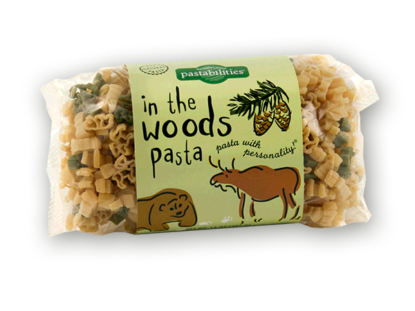 In The Woods Pasta- This is a fun and delicious pasta that is perfect for campers, cub scouts, hikers, and anyone that has a love for nature! Included is a yummy recipe for Bacon Cheeseburger Pasta...just right for a meal by a campfire! Serves 4-6.