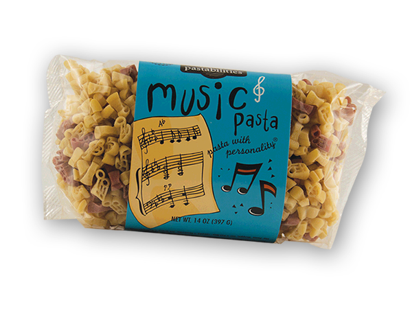 "Music Pasta- Bring ""a symphony of flavors"" to your next pasta meal! Makes a great gift for the music lover. Our Oriental Pasta recipe on the back label will bring music to their ears – and their taste buds! Serves 4-6."