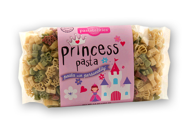 Princess Pasta- Every Princess needs her own Pasta!  A fun meal worthy to serve any Princess...a yummy Light Alfredo recipe is included on the label...enjoy! Also fun as a party favor or