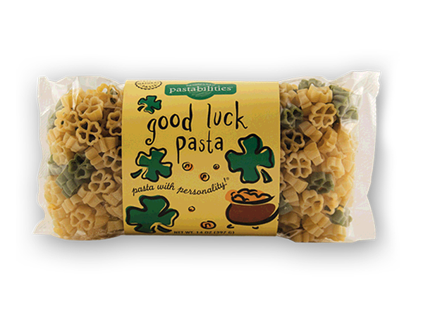 Good Luck Pasta- Get Lucky with our Good Luck Pasta! An encouraging gift for anyone celebrating – Graduates, New Jobs, or New Adventures!  A yummy Sesame Pasta recipe is included.  Serves 4-6.