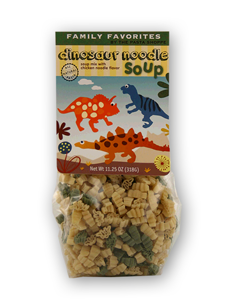 Dinosaur Noodle Soup - Chicken Noodle Soup has never tasted so good! Our fun